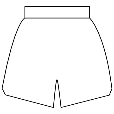 shorts template baksetball shorts vector graphics at vectorportal