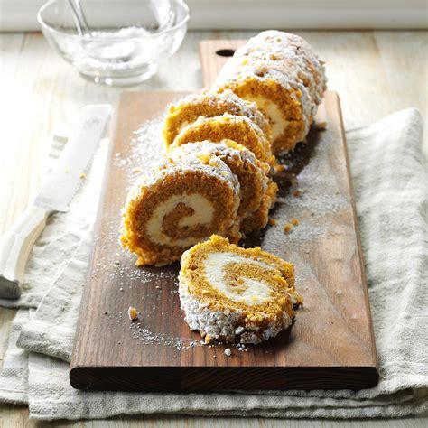 walnut pumpkin cake roll recipe taste  home