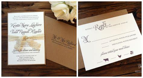 photo wedding invitations rustic wedding invitations ipunya
