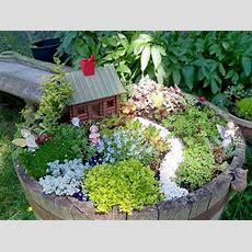 How To Create A Fairy Garden In A Container  Flea Market