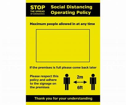 Distancing Social Allowed Maximum Policy Notice Operation