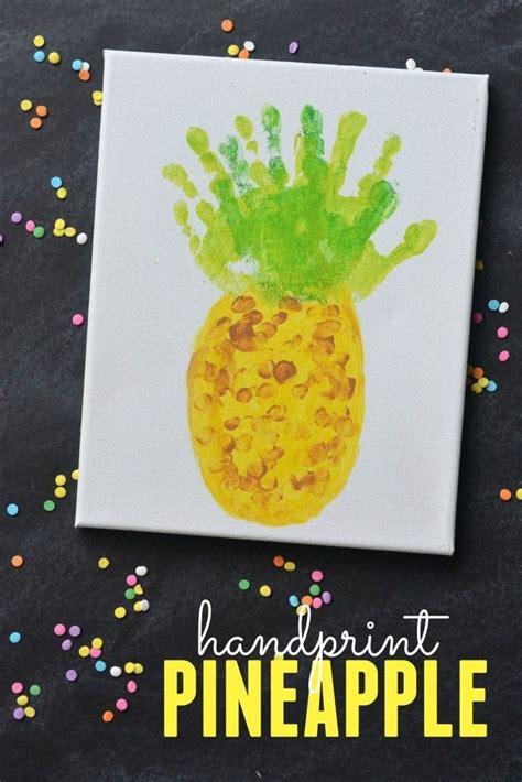 handprint pineapple keepsake canvas easy craft ideas for 590 | 431d51a6f23a1b5a8fc15f8eb32c4ed6