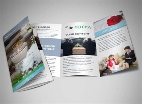 memorial brochure templates psd vector eps format