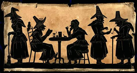 File:Witches; five silhouetted figures. Wellcome V0048920