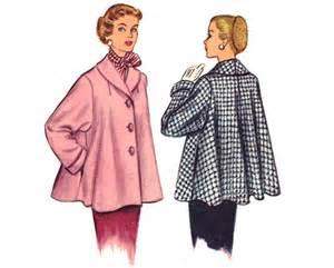 wedding dress patterns to sew vintage swing coat sewing pattern shawl collar bust 34 medium