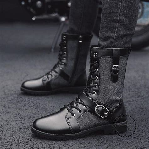 New Style Autumn Winter Punk Martin Boots Men Fashion
