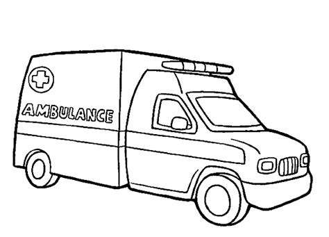 disegni  bambini ambulanza da colorare risorse