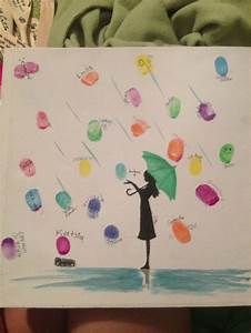 13 best images about fingerprint guest book ideas on With wedding shower guest book ideas