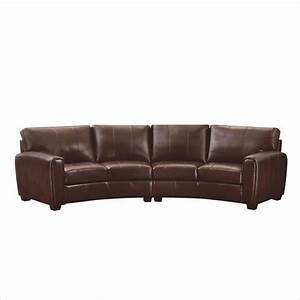 Coaster cornell 2 piece curved sofa sectional in brown for 2 piece curved sectional sofa