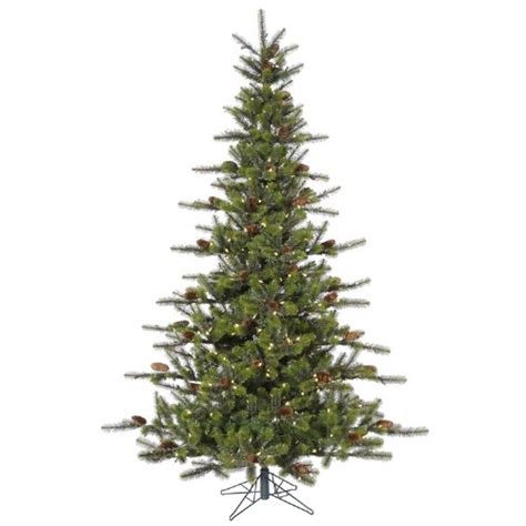 best artificial christmas trees with led lights 7 5 pre lit timbercrest spruce artificial christmas tree
