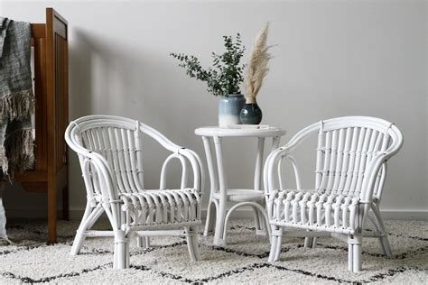 rattan childs chair white naturally rattan and