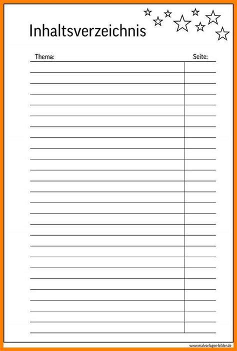 inhaltsverzeichnis vorlage datum thema seite karlton