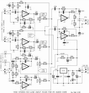 Wiring  U0026 Diagram Info  Mixer Line Mic Stereo Schematic Diagram