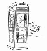 Pages Coloring London Colouring English Bus Ben Phone Outline Telephone Booth Drawings Landmarks England Anglais Respect Adult Phones Union Crafts sketch template