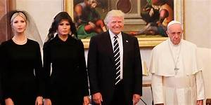 The Trumps meeting the Pope has become an awkward meme ...