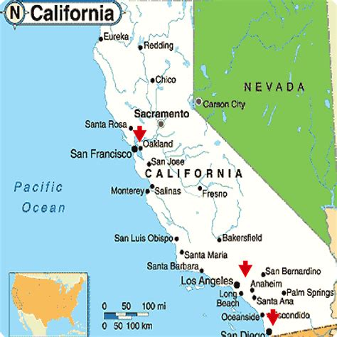 california city maps  travel information