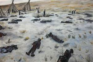 Wounded Knee Massacre 1890 Painting by Joe Ballone