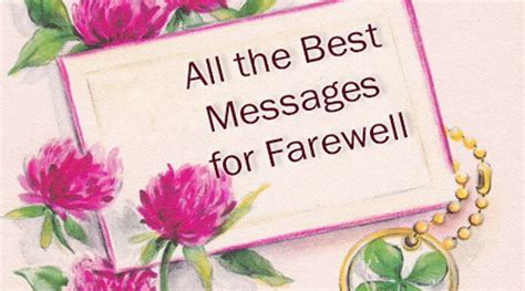 farewell appreciation messages  employees