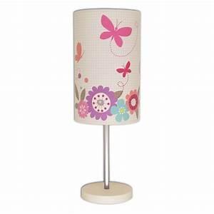 Lampe Chevet Enfant : lampe de chevet papillon rose et ivoire ~ Teatrodelosmanantiales.com Idées de Décoration