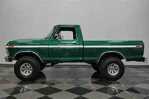 Big Block Ford Manual Trans Green Lifted 4x4 For Sale