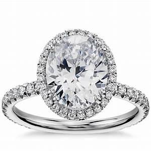 blue nile studio oval cut heiress halo diamond engagement With wedding rings blue nile