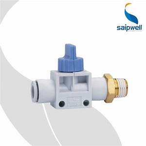 3 Way External Thread And Fast Connector Blue Switch Valve