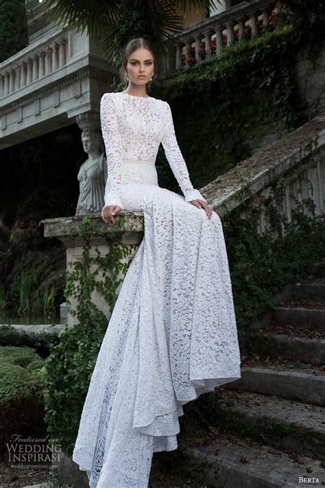 Berta Bridal Winter 2014 — Long Sleeve Wedding Dresses