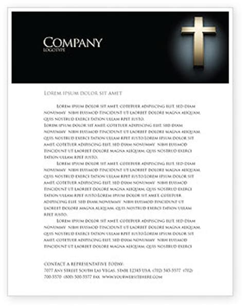 Obtain artistic letterhead templates with paintings & emblem design for adobe indesign, illustrator, microsoft writer, phrase, pages, quarkxpress, coreldraw. Cross In The Dark Letterhead Template, Layout for ...