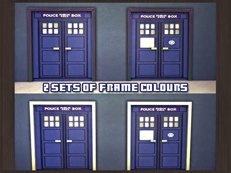 tardis door cover my sims 4 doctor who tardis inspired doors by waterwoman