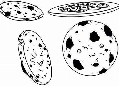 Cookie Cookies Coloring Chocolate Chip Pages Chips