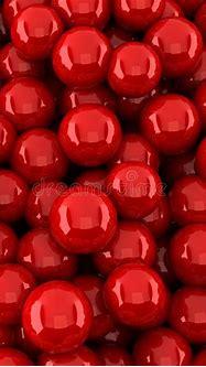 Red Balls Background (3d Render) Stock Illustration ...