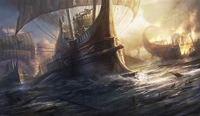 Roman Warship Radojavor Deviantart Paintings Painting Digital