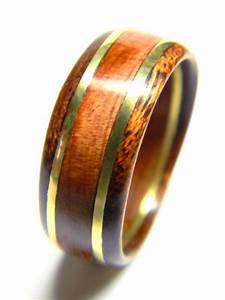 Unique Men39s Wood Ring Cedar And Brass Wedding Band
