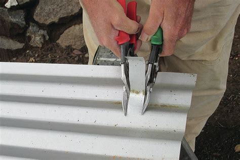 cutting metal roofing jlc  hand tools metal