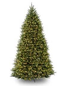12ft pre lit dunhill fir artificial tree garden world