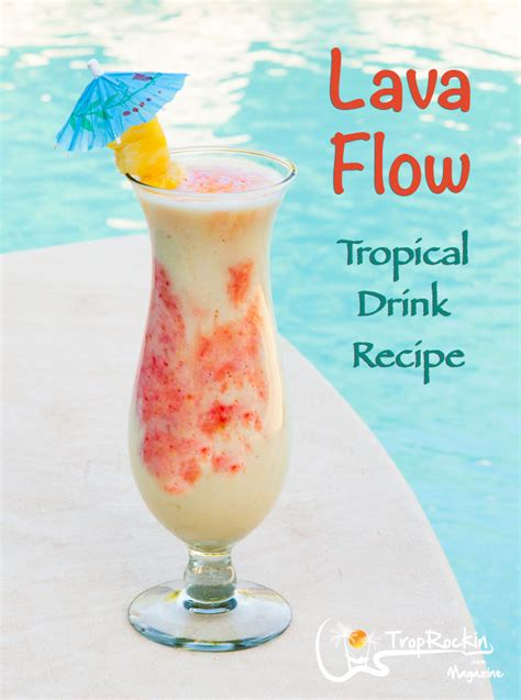 lava flow drink mixed drinks how to make a lava flow rum drink