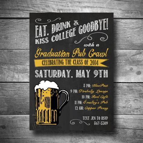 bar crawl invitation invites  web