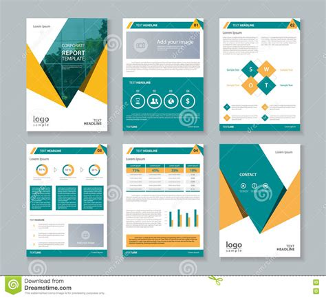 Brochure Templates For It Company by Business Company Profile Report And Brochure Layout