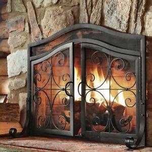 fireplace screens  doors black small decorative