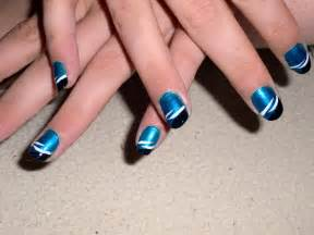 Image of: Blue Nail Design Yvichen Deviantart Blue Nail Designs To Beauty Your Nails