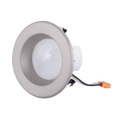 envirolite 4 in brushed nickel integrated led recessed