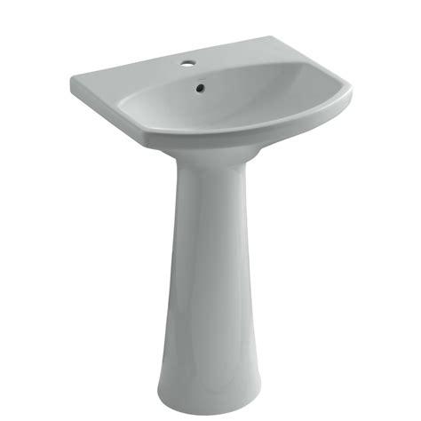 kohler cimarron pedestal sink biscuit shop kohler cimarron 34 5 in h grey vitreous china