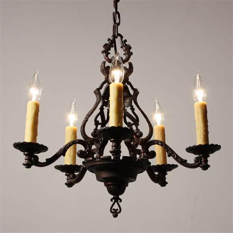 Cast Iron Chandelier by Magnificent Antique Figural Five Light Chandelier Cast