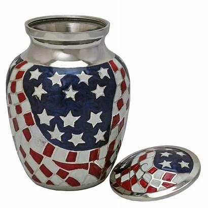 Flag Urn Urns American Wholesale Cremation Brass