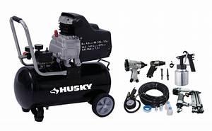 Accessoire Pour Compresseur D Air : husky compresseur d 39 air portatif de 30 litres avec trousse ~ Edinachiropracticcenter.com Idées de Décoration