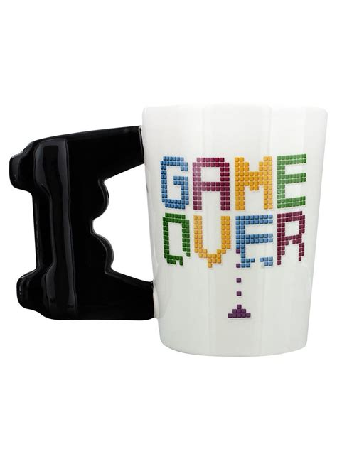 Game Over 3d Controller Handle Gaming Novelty Coffee Mug
