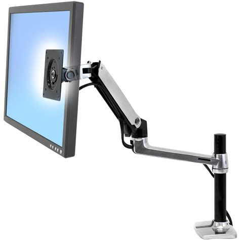 lx desk mount monitor arm tall pole ergotron 45 295 026