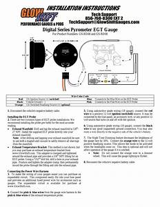 Glowshift Digital Series Pyrometer Egt Gauge User Manual