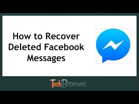 How To Find And Recover Deleted Facebook Messages Youtube