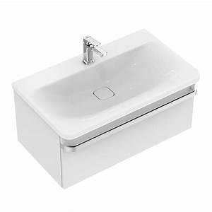 Waschtisch Unterschrank 80 Cm : ideal standard tonic ii waschtisch unterschrank b 80 h 35 t 44 cm front wei hochglanz ~ Bigdaddyawards.com Haus und Dekorationen